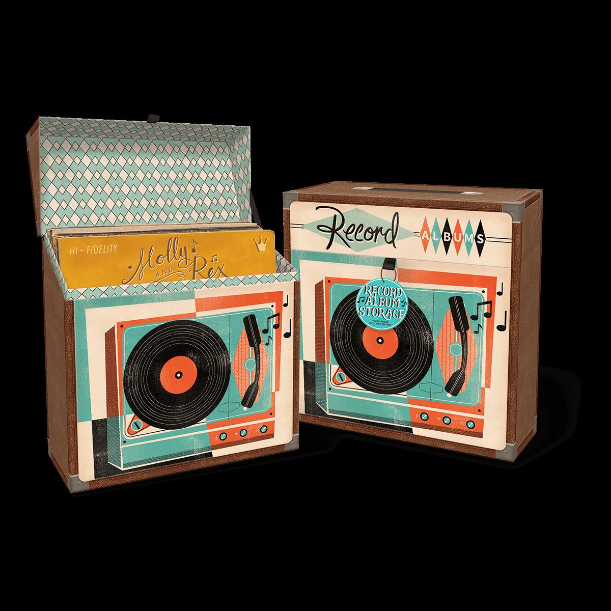 Yesteryear Record Album Storage Box