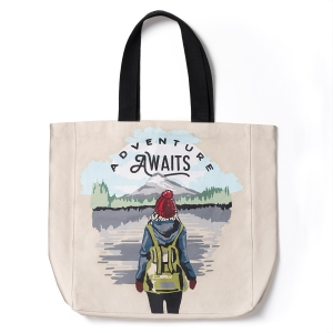 Happy Camper Canvas Tote Bag Product