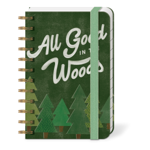 All Good In The Woods Spiral Pocket Notepad Product