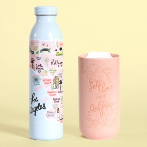 Floral Figure Stainless Steel Water Bottle