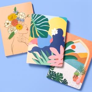 Palms Villa Vase Window Box Notecards